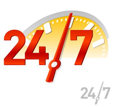 24:7 logo